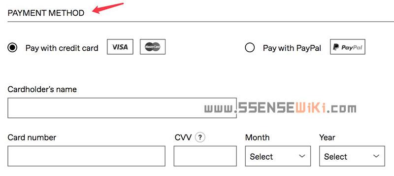 "填写""PAYMENT METHOD""支付方式"