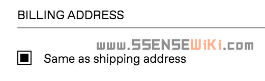 Same as shipping address