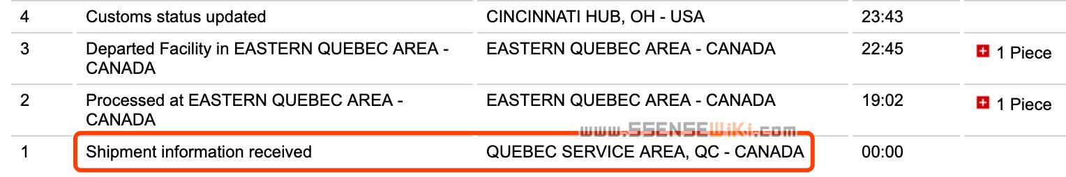 QUEBEC SERVICE AREA, QC - CANADA